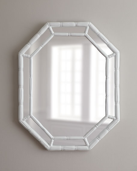octagon bathroom mirror white octagonal mirror 13837