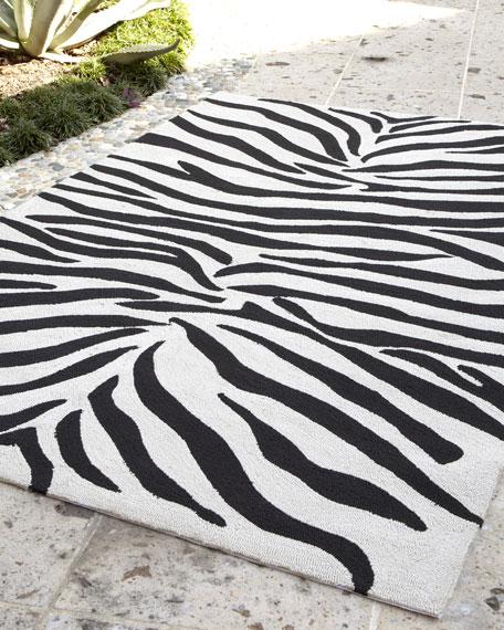 """Zoey"" Zebra-Print Rug, 5' x 7'6"""