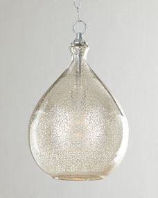 Mercury-Glass One-Light Pendant