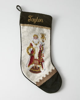 Venetian Santa Needlepoint Stocking