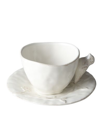Bird on Branch Cups and Saucers, Set of 4