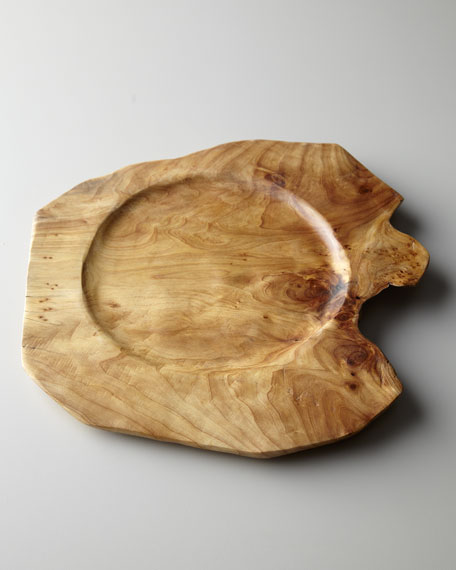 Root  Wood Charger Plate & Root