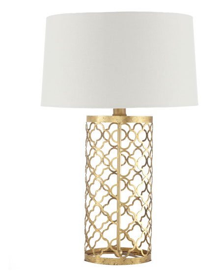 Quatrefoil Drum Lamp