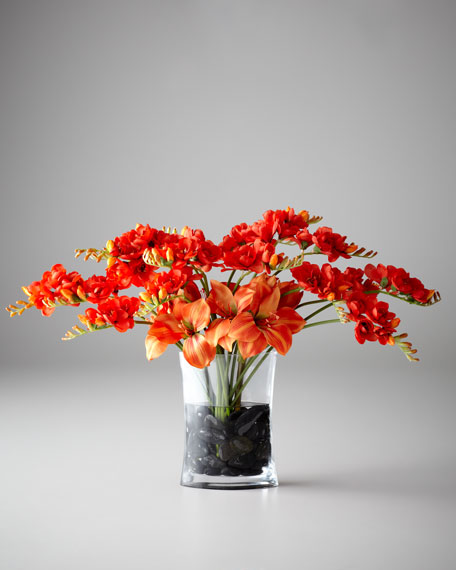 Freesia Charisma Faux Floral Arrangement