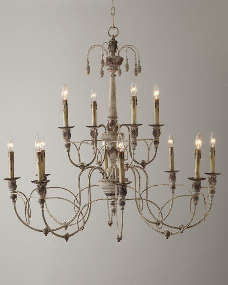 Salento 12 light white two tier chandelier aloadofball Gallery