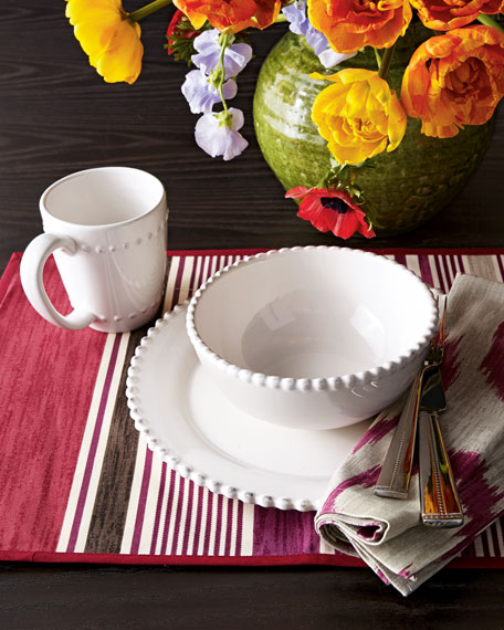 16-Piece Bianca Beaded-Edge Dinnerware