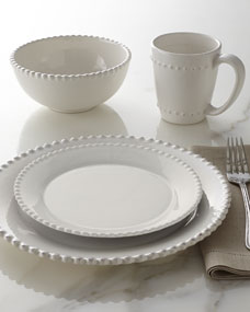 16 Piece Bianca Beaded Edge Dinnerware