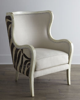 "Massoud ""Cartata"" Wing Chair"