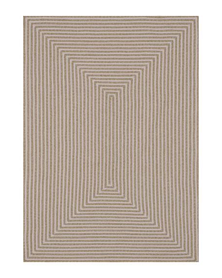 """Hideaway Stripe Outdoor Rug, 7'6"""" x 9'6"""""""