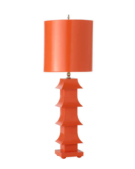 "Lacquered ""Pagoda"" Lamp"