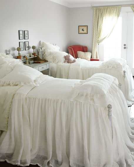 "30""L Twin Savannah Skirted Coverlet"