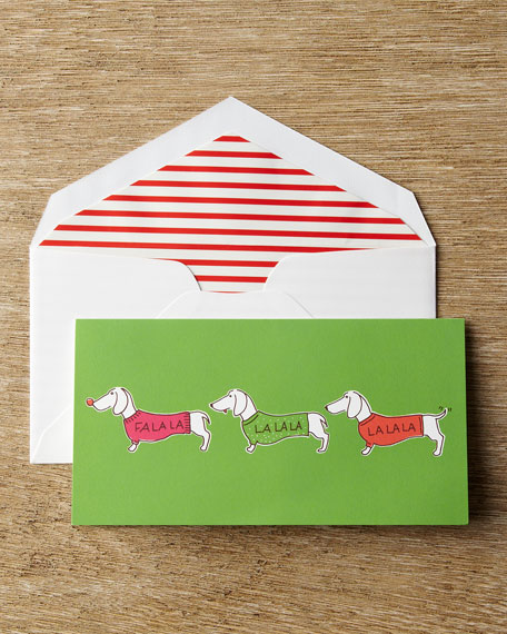 """10 """"Singing Dachshunds"""" Christmas Cards"""