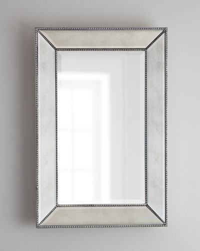 beaded wall mirror 24
