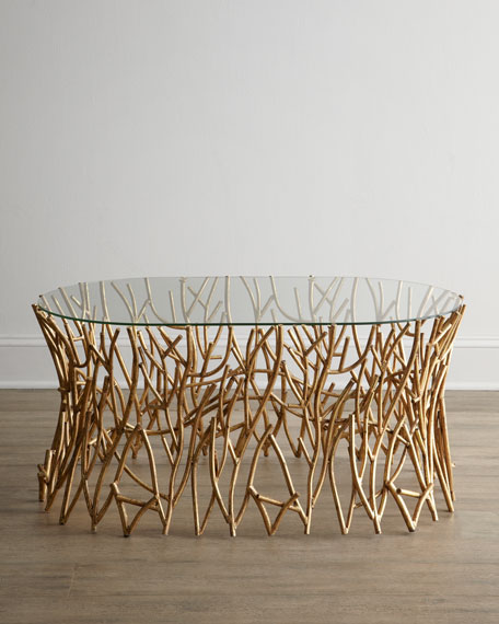 """Golden Branches"" Coffee Table"