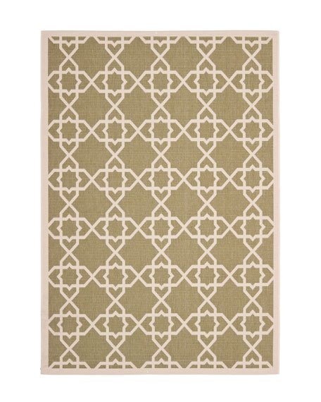 "Locking Hex Rug, 6'7"" Square"