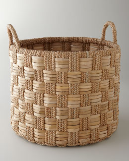 Seagrass Basket with Check Pattern