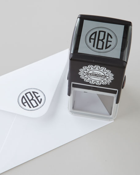 Three Designing Women Three-Initial Circle Monogram Stamper