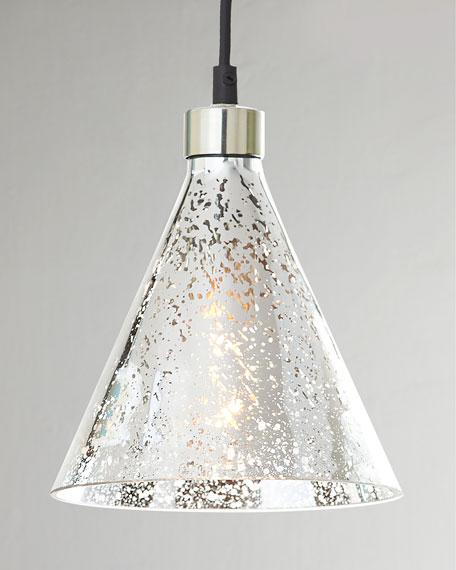 """Mercury-Glass"" Beaker Pendant"