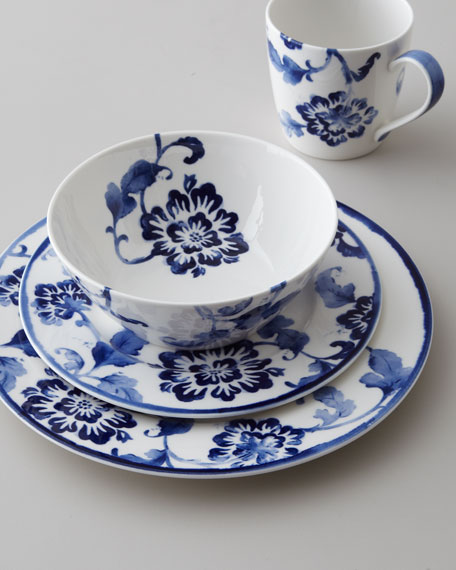 "Four-Piece ""Somerset Island"" Floral Dinnerware Place Setting"