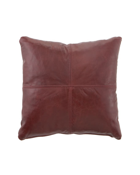 Red Leather Pillow