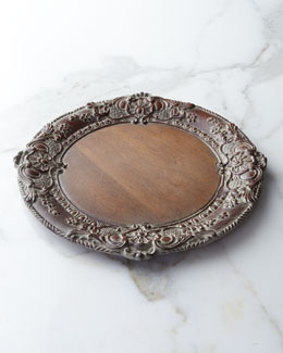 Baroque Wooden Charger Plate