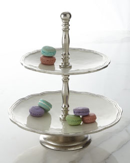 """Deville"" Two-Tier Footed Stand"