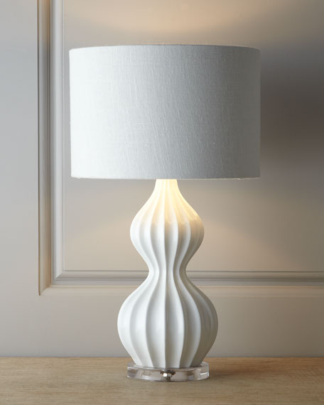 "White ""Peanut"" Lamp"