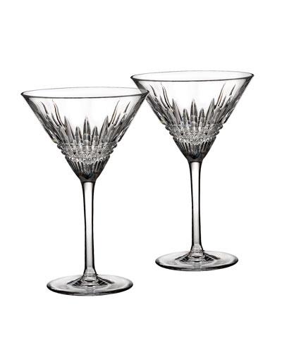 Lismore Diamond Martini Glasses  Set of 2