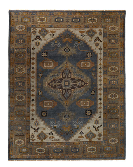 Michener Blue Rug, 6' x 9'