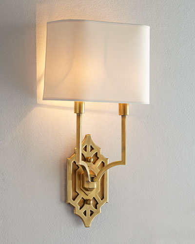 Silhouette Fretwork Sconce