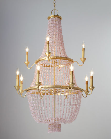 """""""Loulou"""" Pink Stone Chandelier"""