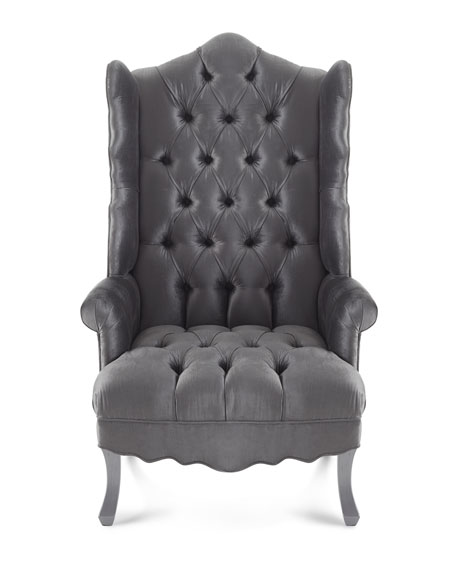 Isabella Chrome Wing Chair