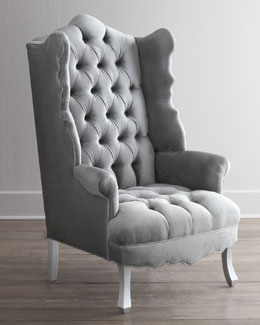 "Haute House ""Isabella"" Chrome Wing Chair"