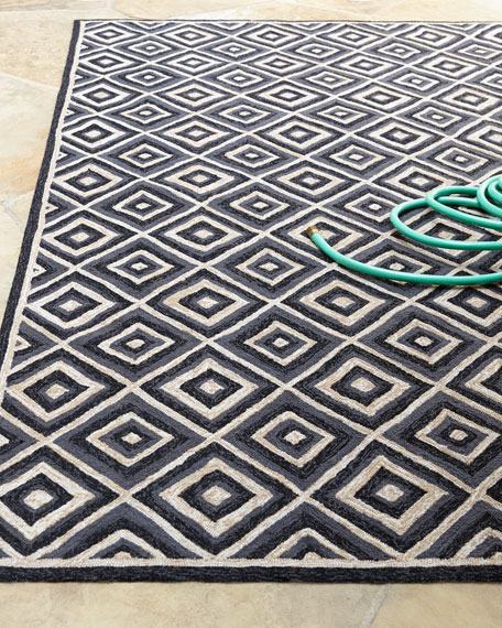 "Diamonds Galore Outdoor Rug, 8'3"" x 11'"