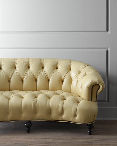 Lenoir Leather Tufted Sofa 70.5""