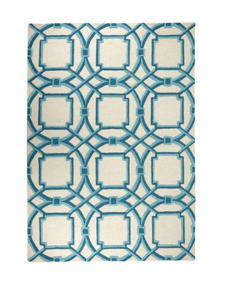 Interlaced Arabesque Rug, 6' x 9'
