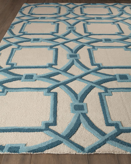 Interlaced Arabesque Rug, 6' x 9'