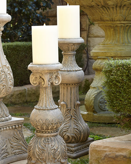 "30""T Cast-Stone Candlestick"
