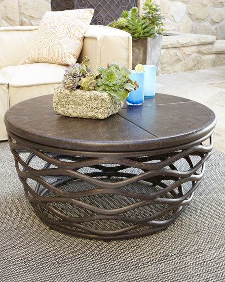 Outdoor Coffee Table: Industrial Renaissance Outdoor Coffee Table