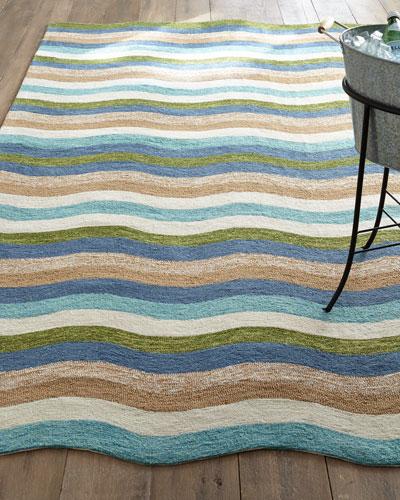 Caribbean Waves Indoor/Outdoor Rug, 3'5