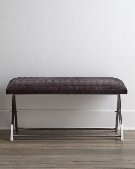 """Maxwell"" Leather Bench"