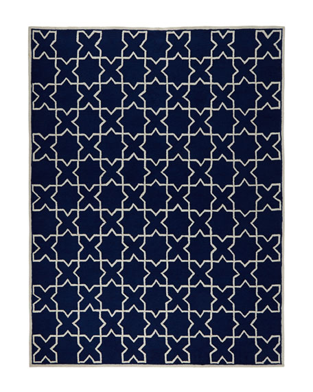 Tic Tac Toe Indoor/Outdoor Rug, 5' x 7'6""