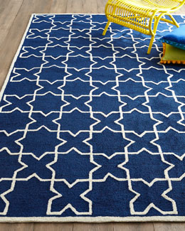 Tic Tac Toe Indoor/Outdoor Rug, 5' x 7'6
