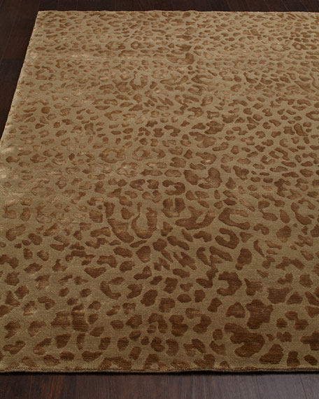 """Cloud Leopard"" Rug, 10' x 14'"