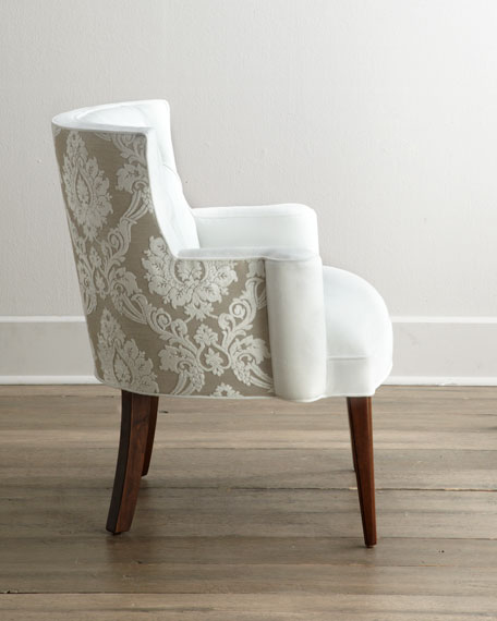 Bright Tiffany Damask Chair