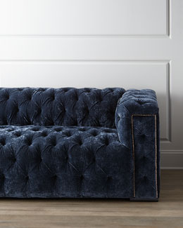 "Old Hickory Tannery ""Beverly"" Tufted Sofa"