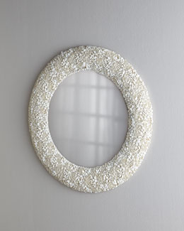 Clamrose Shell Mirror