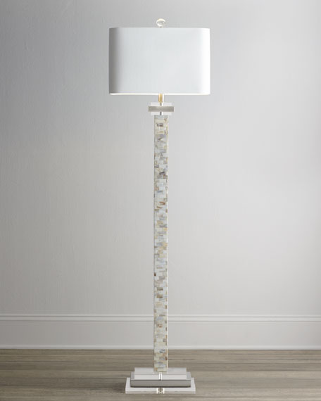 - Mother-of-Pearl Floor Lamp
