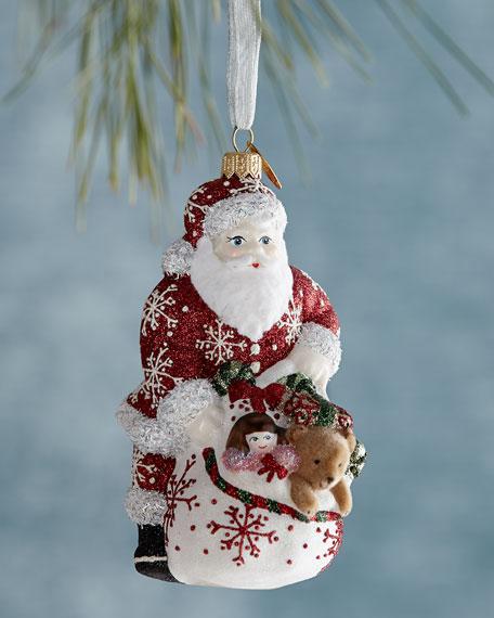 Santa Has the Goods Christmas Ornament