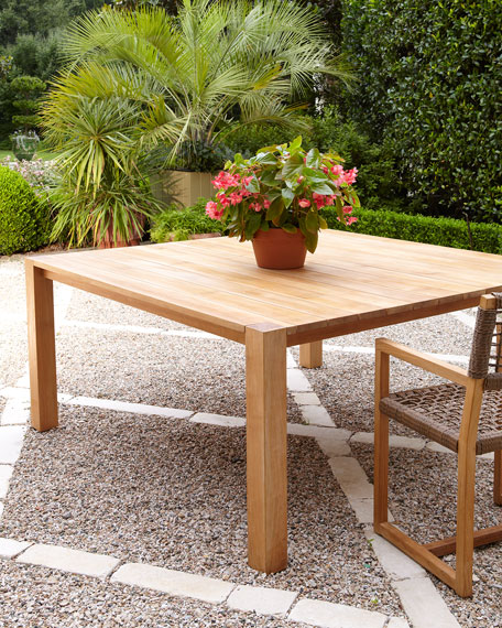 Maya Teak Parson's Dining Table